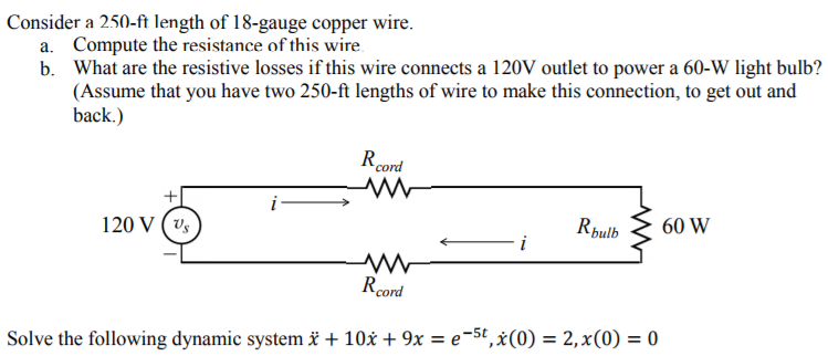 Solved consider a 250 ft length of 18 gauge copper wire consider a 250 ft length of 18 gauge copper wire compute the resistance greentooth Choice Image