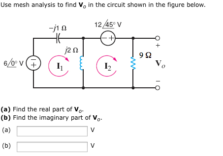 Use mesh analysis to find Vo in the circuit shown