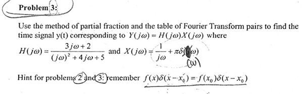 Use the method of partial fraction and the table o