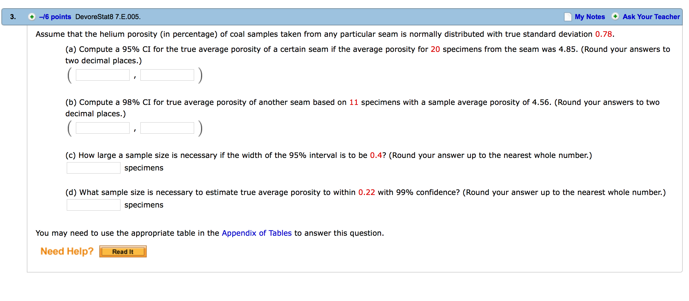 Assume That The Helium Porosity in Percentage