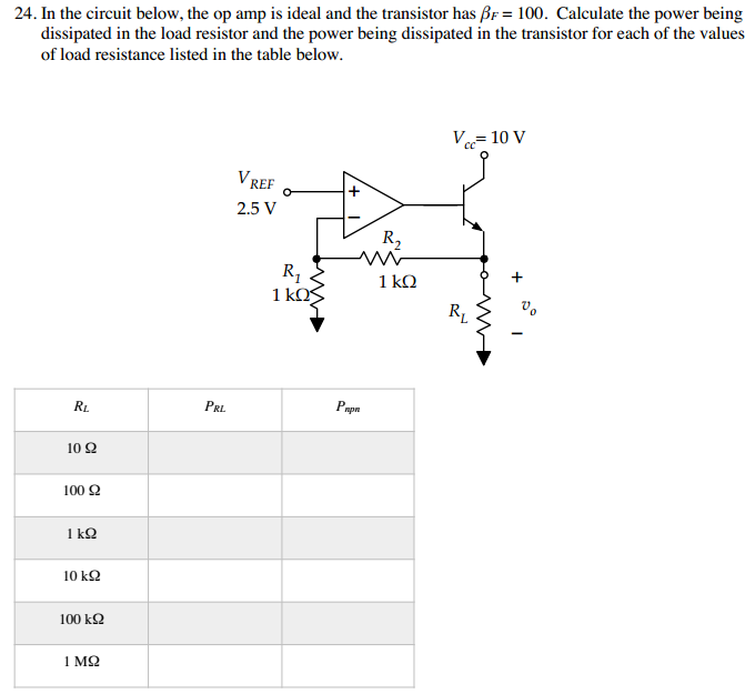 In the circuit below, the op amp is ideal and the