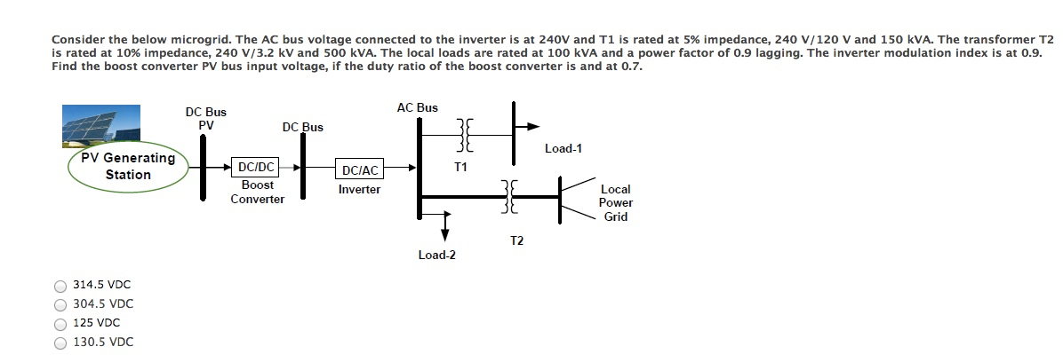 solved  consider the below microgrid  the ac bus voltage c