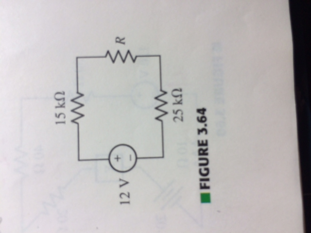 For the circuit, Determine the resistance R that