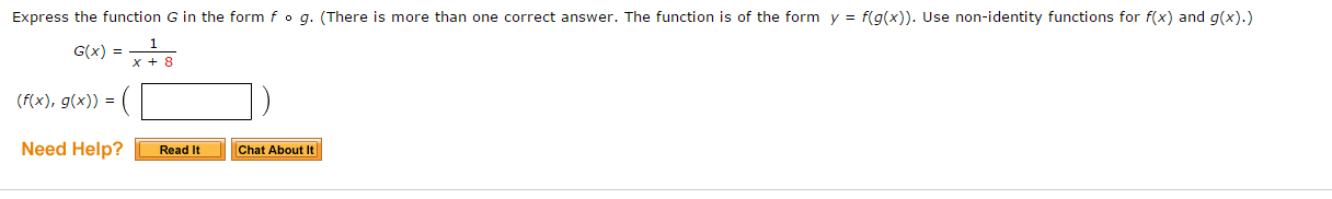 Express The Function G In The Form F O G. (There I... | Chegg.com