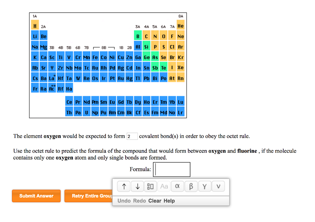 The Element Oxygen Would Be Expected To Form 2 Cov... | Chegg.com