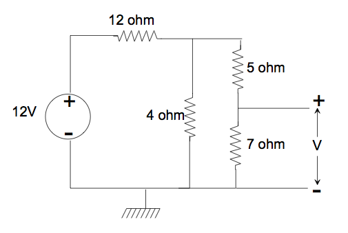 Consider the circuit below. What is the voltage d