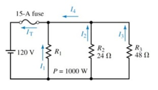 For the circuit shown in the figure, determine eac