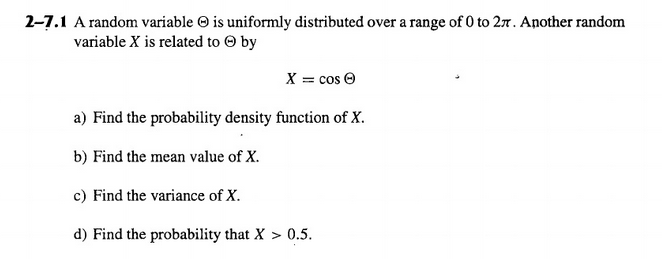 A random variable Theta is uniformly distributed o