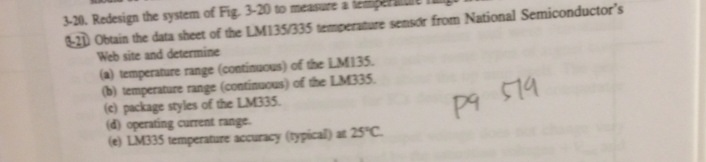 Obtain the data sheet of the LM135/335 temperature