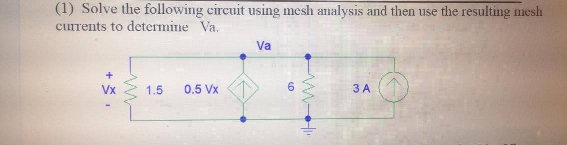 how to solve mesh analysis problems