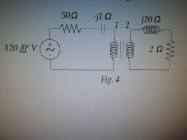 What is the impedance seen at the primary for the