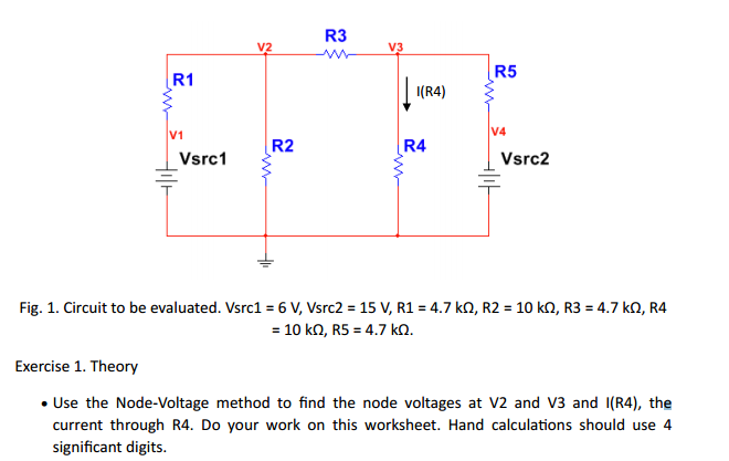 Use The NodeVoltage Method To Find The Node Volta – Significant Digit Worksheet
