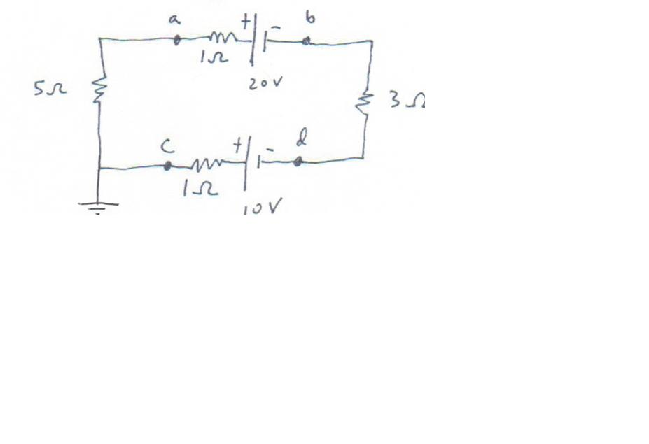 In the above circuit: what is the current? what