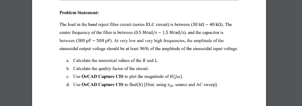 rlc series circuit problems with solutions pdf