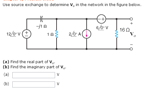 Use source exchange to determine V0 in the network