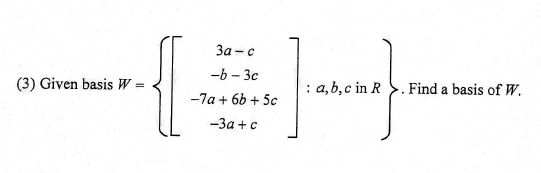 how to find a basis given span