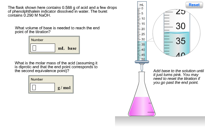 Image For The Flask Shown Here Contains 0588 G Of Acid And A Few Drops O