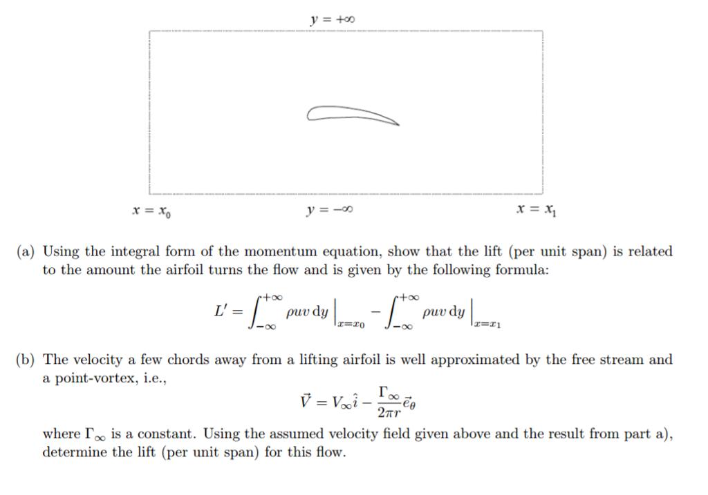 a) Using The Integral Form Of The Momentum Equati... | Chegg.com