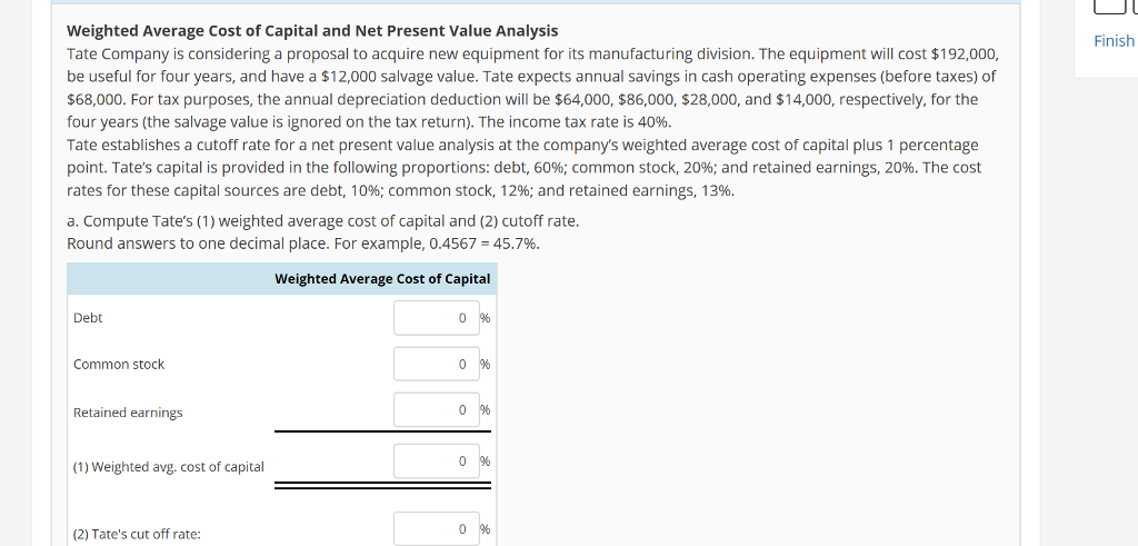 capital budgeting proposal b new equipment Kore industries is analyzing a capital investment proposal for new equipment to produce a product over the next 8 years  capital budgeting process capital.