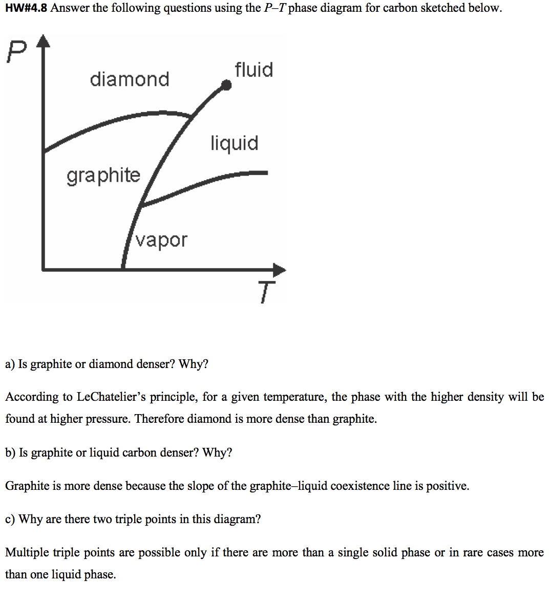 Hw48 answer the following questions using the p chegg question hw48 answer the following questions using the p t phase diagram for carbon sketched below a i pooptronica