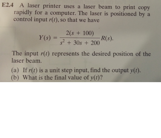 A laser printer uses a laser beam to print copy ra