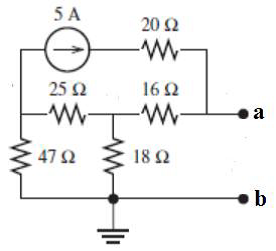 Find Thevenin equivalent circuit for the following