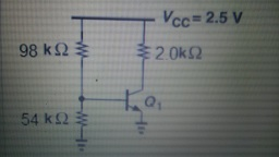 In the circuit, Beta = 150 and VA = infinite. If