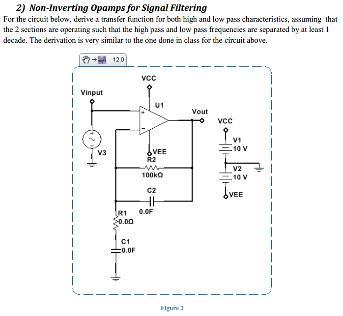 Non-Inverting Opamps for Signal Filtering For the