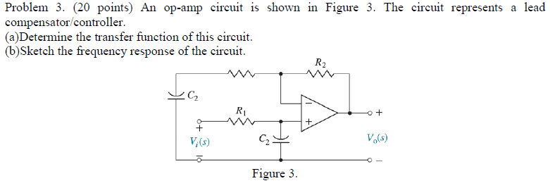 An op-amp circuit is shown in Figure 3. The circui