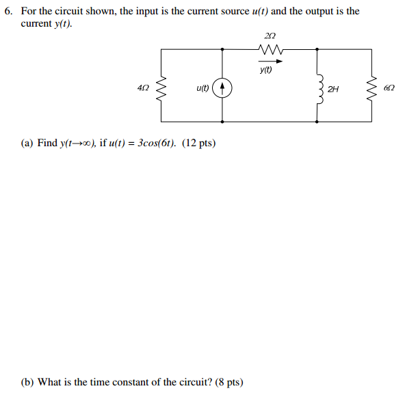 For the circuit shown, the input is the current so