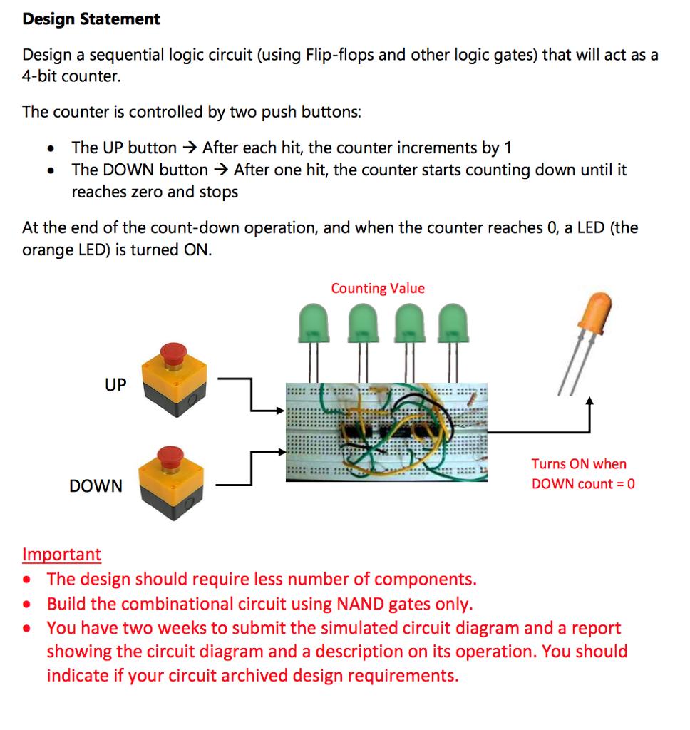 Design Statement Design A Sequential Logic Circuit... | Chegg.com