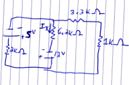 In the below circuit, find Ix USING SUPERPOSITION.
