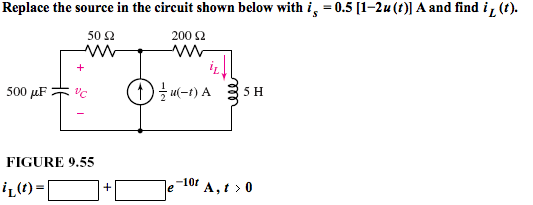 Replace the source in the circuit shown below with