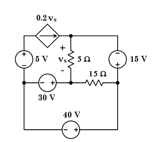 The circuit shown above. Required: Calculate the