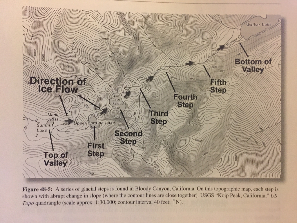 Show Transcribed Image Text Section Exercise 48 Problems Part I The Following Questions Are Based On Map T 13 The Mono Craters California Quadrangle