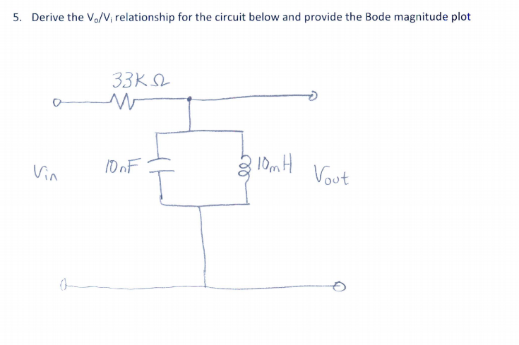 Derive the V_o/V_i relationship for the circuit be