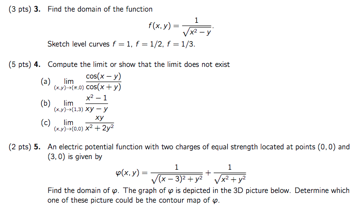 3. Find The Domain Of The Function Sketch Level Cu... | Chegg.com