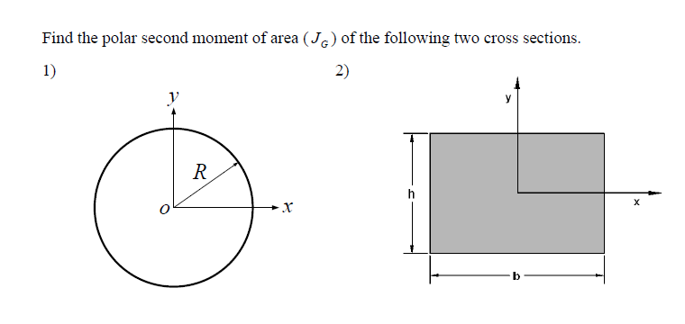 how to find moment of area for zy