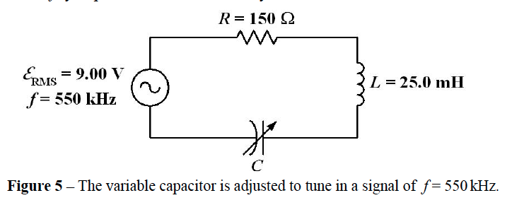 The variable capacitor is adjusted to time in a si