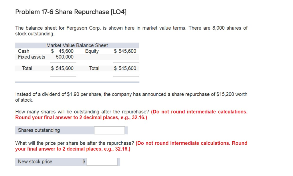 Solved The Balance Sheet For Ferguson Corp Is Shown Here