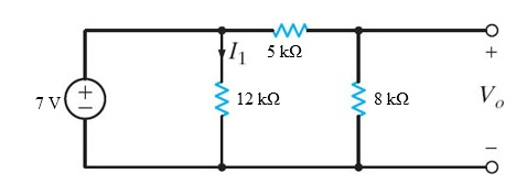 Find (a) I1 and (b) Vo in the circuit in the Figur