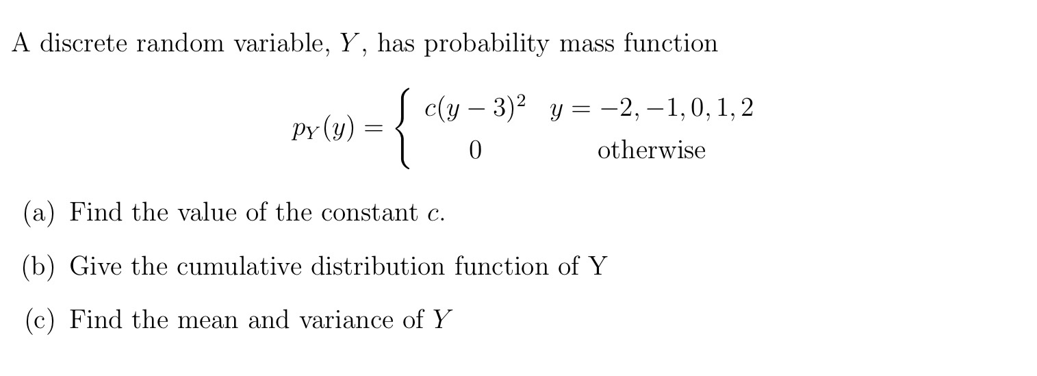 how to find the probability mass function