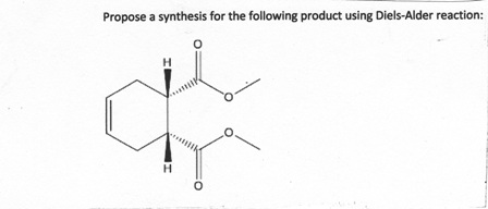 Propose a synthesis for the following product usin