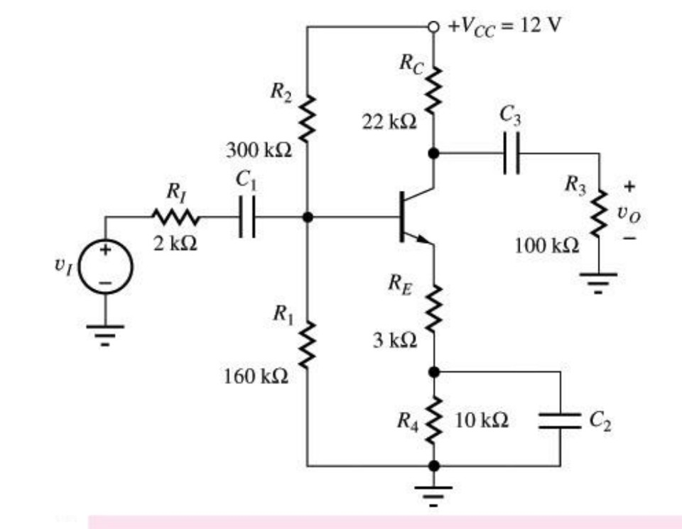 Solved for the common emitter amplifier circuit draw the expert answer ccuart Images