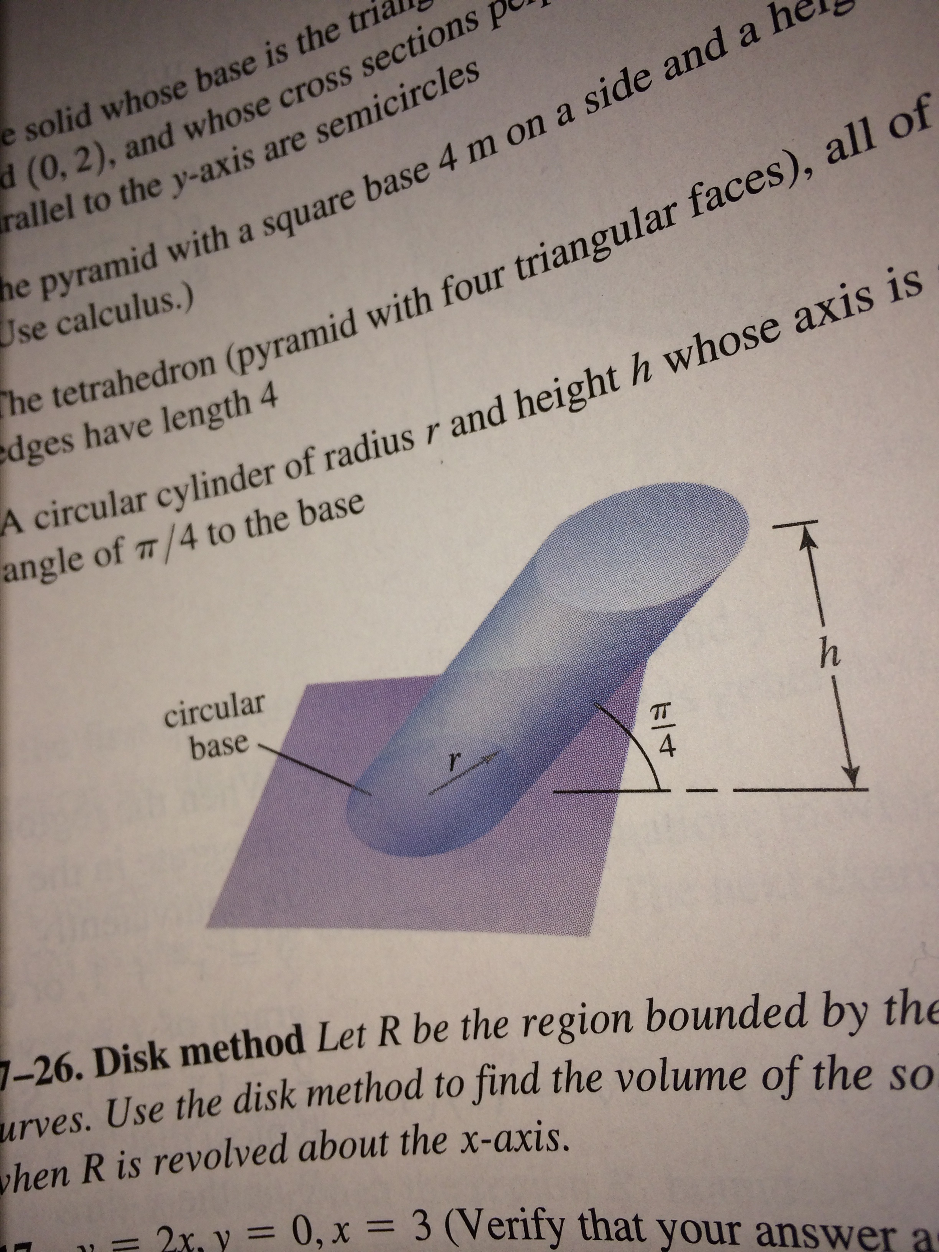 Use the general slicing method to find the volume chegg best answer ccuart Gallery