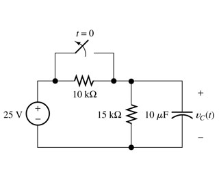 For the circuit shown in figure below, the switch