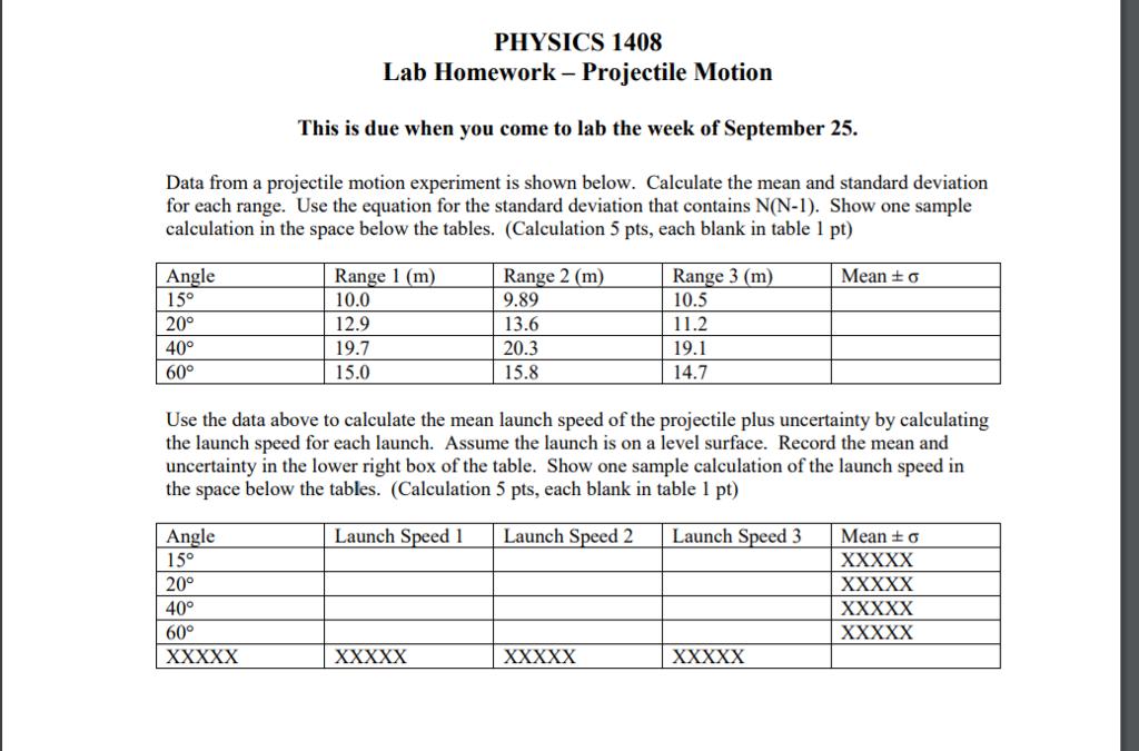 physics projectile motion experiment 22 experiment 4: projectile motion advance reading text: motion in two dimensions (2-d), projectile mo-tion, kinematic equations lab manual: appendix a, appendix d.