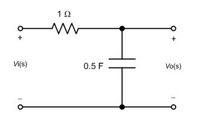 Given the following circuit, what is the transfer