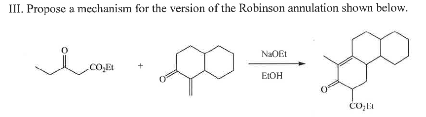 Propose a mechanism for the version of the Robinso