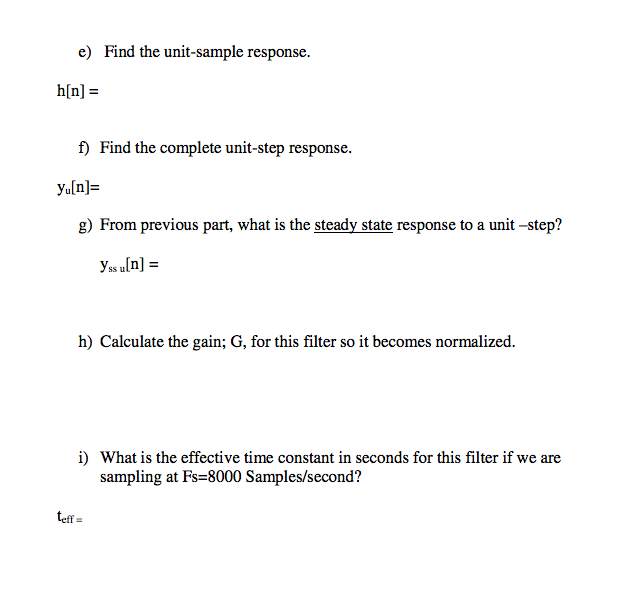 Given the following difference equation for a caus